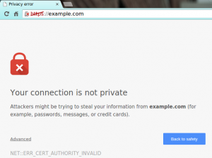 Google Chrome Error Your Connection Is Not Private